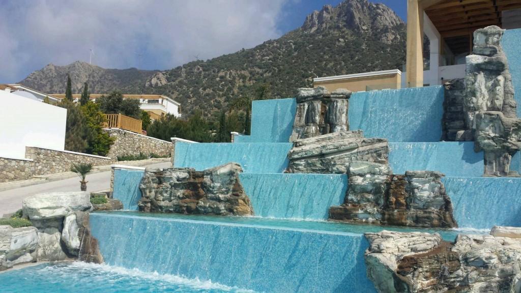 Watervallen op het park
